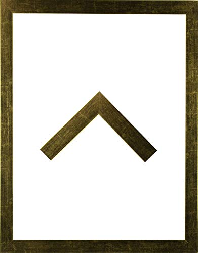 RahmenMax Morena Holz Werkstoff Bilderrahmen 42 x 60 cm modernes sehr eckiges Profil 60 x 42 cm Grosse Farbauswahl jetzt: Goldglanz Vintage mit Kunstglas Antireflex 1 mm