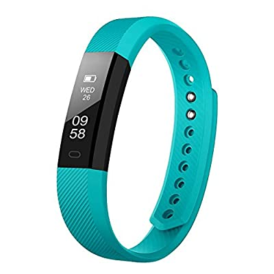 LETSCOM Fitness Tracker, Fitness Tracker Watch with Slim Touch Screen and Wristbands, Wearable Activity Tracker as Pedometer Sleep Monitor