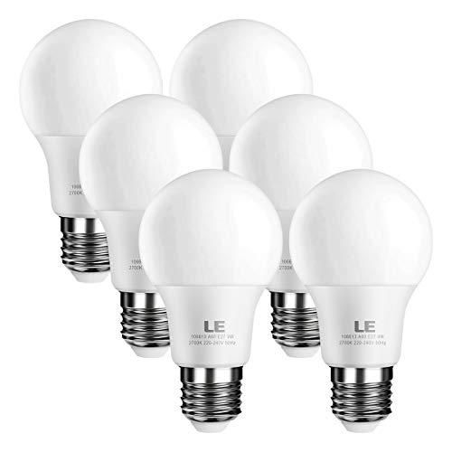 LE E27 LED Birne, 9W 800 Lumen LED Lampe, 2700 Kelvin Warmweiß ersetzt 60W Glühbirne