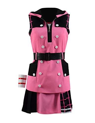Kostüm Kairi 2 Hearts Kingdom Cosplay - Spiel Kingdom III Kairi Kostüm Damen Cosplay Jacke Rock Gürtel Kostüm Outfit (Rosa, L)