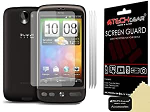 [Pack of 3] TECHGEAR® HTC DESIRE CLEAR Screen Protector Covers With Cleaning Cloth & Application Card