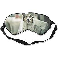 Eye Mask Eyeshade Dog On Table Sleep Mask Blindfold Eyepatch Adjustable Head Strap preisvergleich bei billige-tabletten.eu