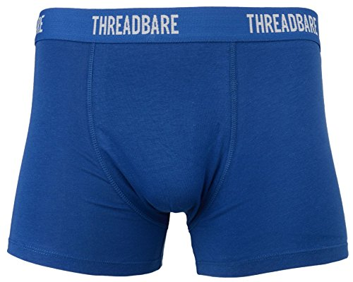 Threadbare Herren Drei Einfarbig Gestreift Hipster Boxers Retroshorts blue-red-green
