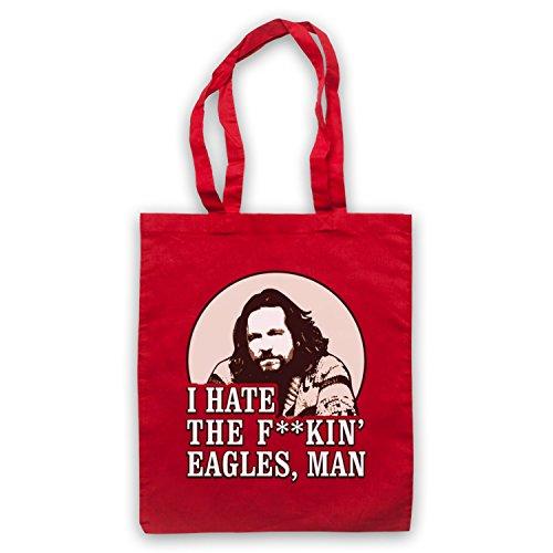 Inspiriert durch Big Lebowski I Hate The Eagles Inoffiziell Umhangetaschen Rot