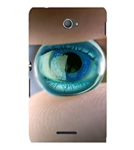 printtech Marble Eye Back Case Cover for Sony Xperia E4 Dual::Sony Xperia E4