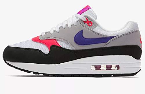 White Court (Nike WMNS Air Max 1 - White/Court Purple-Wolf Grey-b, Größe:8.5)