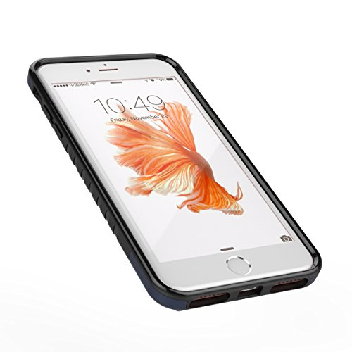 iPhone 7 Plus Hülle,EVERGREENBUYING Abnehmbare Hybrid Schein IPHONE 7+ Tasche [Dual Layer] Etui Schutzhülle Case Cover für iPhone 7 Plus (5.5-inch) Rose Gold&Grau Blau&Schwarz