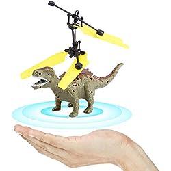 RC Flying Dinosaurio, Mini Detección Inducción Mano Suspensión Flying Dinosaurio con LED RC Aeronave Juguete Drone