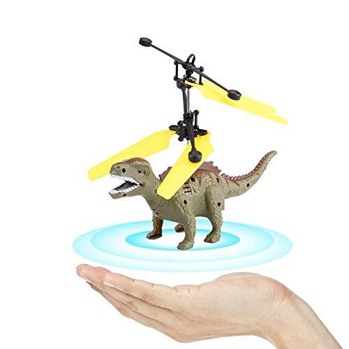Fliegende Dinosaurier Spielzeug, Mini Induktion Sensing Hand Suspension Fliegende Dinosaurier mit LED Flugzeug Spielzeug Drone