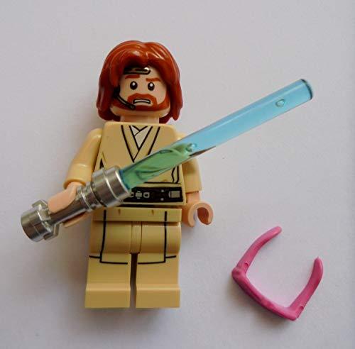 Blue Ocean Lego Star Wars Minifigur - Obi-Wan-Kenobi mit Blauem Laserschwert und pinkfarbene Brille