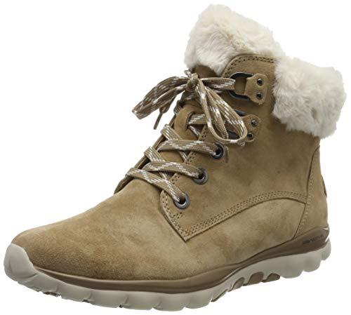 Gabor Shoes Damen Rollingsoft Stiefeletten, Beige (Desert (Webl.) 32), 43 EU