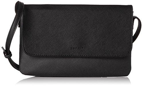 Esprit Accessoires Damen 078ea1o048 Umhängetasche, Schwarz (Black), 2x15x24 cm