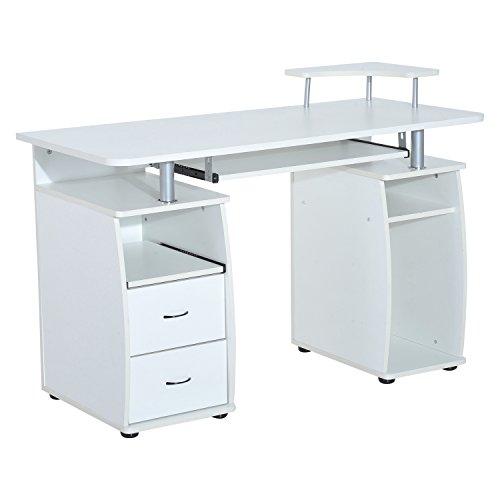 ... HOMCOM U2013 Büro /Computertisch, PC Holz Schreibtisch, Für Zuhause, ...