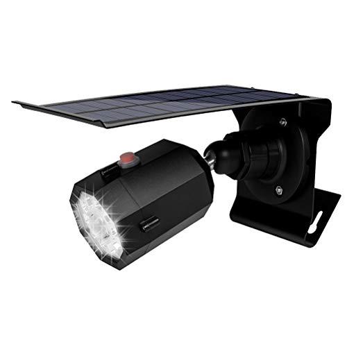 OSALADI Solar Simulation Kameras Licht Sicherheit Gefälschte Kameras Licht Außenwandleuchte Solarbetriebene Wandleuchte für Garten Garten (Schwarz)