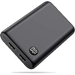 Trswyop Batterie Externe 13800mAh Power Bank, Mini Portable Chargeur avec 2 Port USB et LED Digital Display Haute Capacité Batterie de Secours pour Smartphone, Tablette, etc [Garantie 24 Mois]
