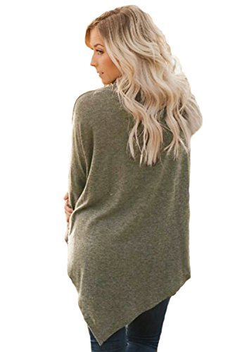 Akalili - Sweat-shirt - Slip - Manches Longues - Femme Café