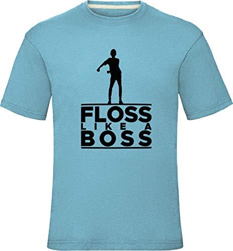 Floss Like A Boss Shirt Floss wie EIN Chef Tanz Jungen Herren T-Shirt Battle Schlacht Royale Kinder Kleinkinder Hemden 12-14 Jahre (Truhe 36