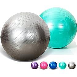 SIMYJOY Frosted Bola de yoga Pilates Anti-Burst y resistente al deslizamiento Fitness/ejercicio Swiss Ball 65/75cm con bomba(Azul,75cm)