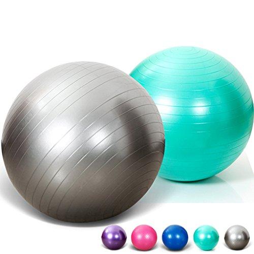 SIMYJOY Frosted Anti-Burst et resistant aux glissades Fitness/Exercice Ballon suisse 65/75cm avec pompe pour le yoga Pilates(Violet,75cm)