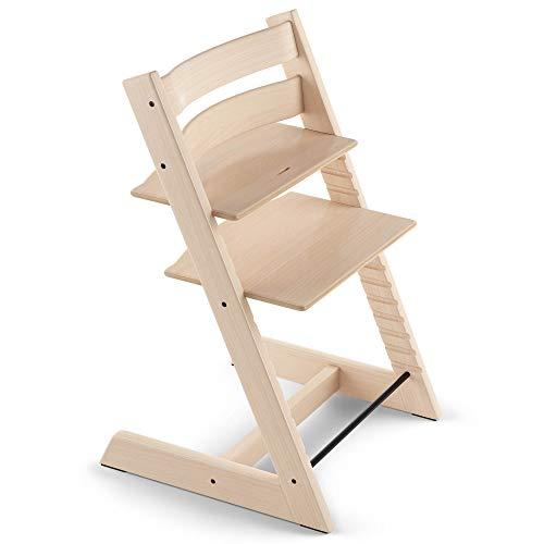 Tripp Trapp - Mitwachsender Baby- und Kinderhochstuhl - Rückt das Baby an den Esstisch und in das Zentrum der Familie - Holzart: Buchenholz - Farbe: Natural -