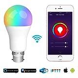 Smart Leuchtmittel funktioniert mit Alexa, vobot WLAN LED Bayonettfassung, B22Glühbirne RGBW 7W...