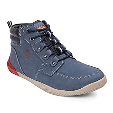 Red Chief Men's Blue Leather Casual Shoes - 10
