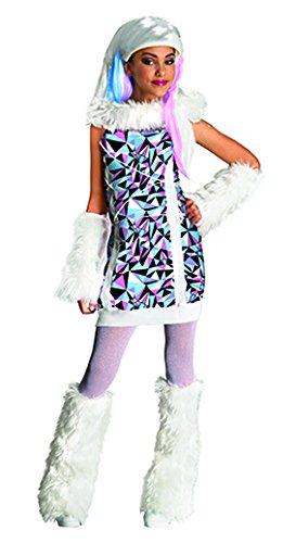 (Generique Abby Bominable Monster High-Kostüm für Mädchen 128/140 (8-10 Jahre))