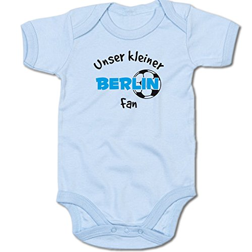 Unser Kleiner Berlin Fan Baby-Body Suite Strampler 250.0488 (0-3 Monate, blau)