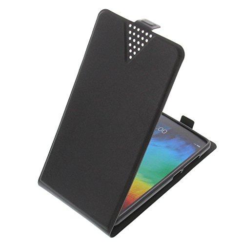 foto-kontor Tasche für Xiaomi Mi 4c Flip Style Ultra-dünn Schutz Hülle Schwarz