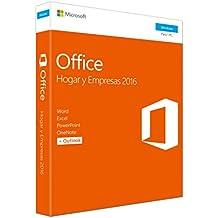 Microsoft - Office Hogar y Empresas 2016 - 1 licencia para PC