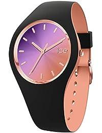 Ice-Watch - ICE duo chic Black purple - Montre noire pour femme avec bracelet en silicone - 016982 (Medium)