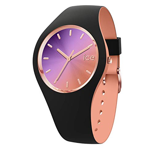 Ice-Watch - ICE duo chic Black purple - Schwarze Damenuhr mit Silikonarmband - 016982 (Medium) (Billig Urlaub Zubehör)