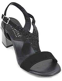 Amazon Tacon Zapatos Chanclas Y esSandalias Negras YDHIW29E
