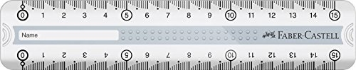 Faber-Castell Lineal Grip, 15 cm, grau
