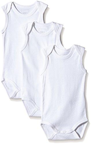 NAME IT Baby-Jungen Body NITBODY TANK NB NOOS, 3er Pack, Gr. 62, Weiß (Bright White)
