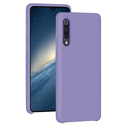 Funda para Xiaomi Mi 9/Mi 9 SE Teléfono Móvil Silicona Liquida Bumper Case y Flexible Scratchproof Ultra Slim Anti-Rasguño Protectora Caso (Purple, Xiaomi Mi 9 SE)