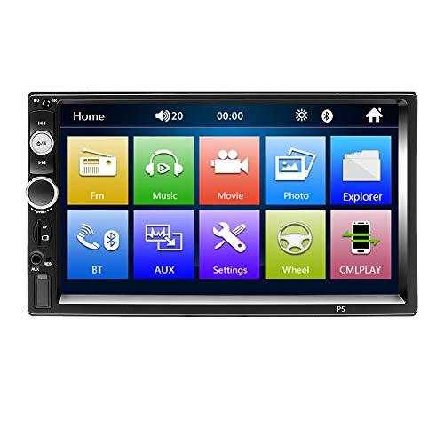 TOOGOO Doppel Din Auto Radio, 7 Zoll 1080P Druck Bildschirm Auto Radio Mp3 / Mp5 / Fm Player Unterstützt Dvr Umkehrung des Bilds Bluetooth/USB/Tf mit Fernbedienung