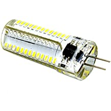 LEORX G4 AC 220V 5W SMD 3014 104 LED Bombilla Lámpara 2pcs (Blanco)