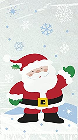 Cellophane Snowflake Santa Christmas Party Bags, Pack of (Babbo Neve Natale)