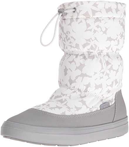 Crocs LodgePoint Pull-on Boot, Bottes de Neige femme Blanc (Oyster)