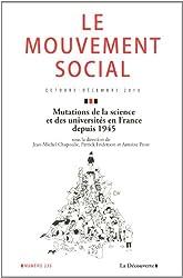 Mutations de la science et des universités en France depuis 1945