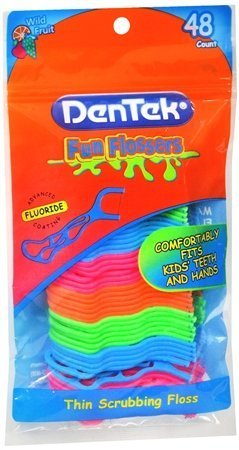 dentek-kids-fun-flossers-floss-picks-3-packs-of-48-count-144-total-by-dentek