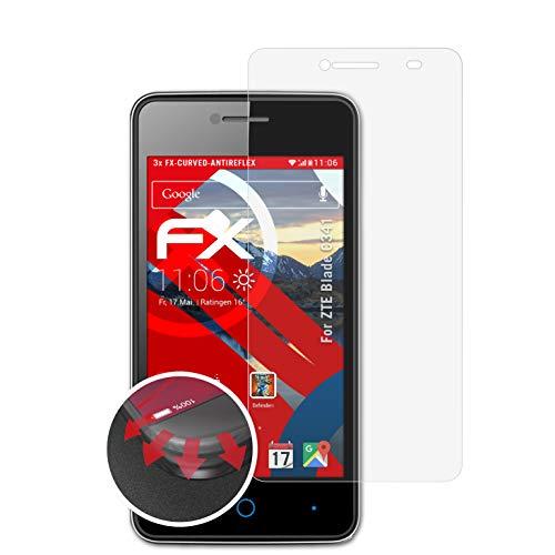 atFolix Schutzfolie passend für ZTE Blade C341 Folie, entspiegelnde & Flexible FX Bildschirmschutzfolie (3X)