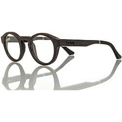 Barkey - Hanoi Vista lente de muestra - Gafas de madera de alta calidad - 100% hecho a mano - lentes de demostración no graduados
