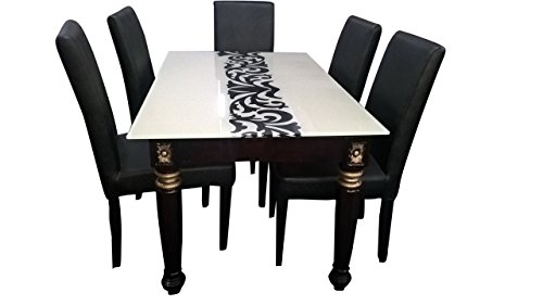 HI-Tech RX American Model Dining Table Set With Six Chairs