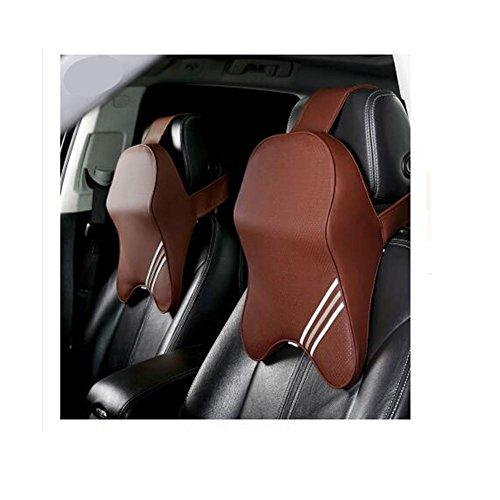 PENG Voiture quatre saisons couvre-oreillers respirant et confortable couette de voyage voiture oreiller appuie-tête (une paire)