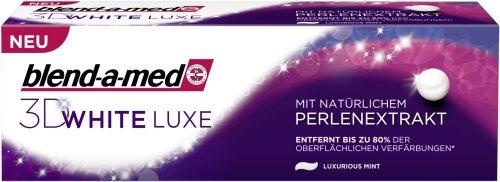 Blend-A-Med 3D White Luxe Mit Natürlichem Perlenextrakt, 4er Pack (4 X 75 ml)