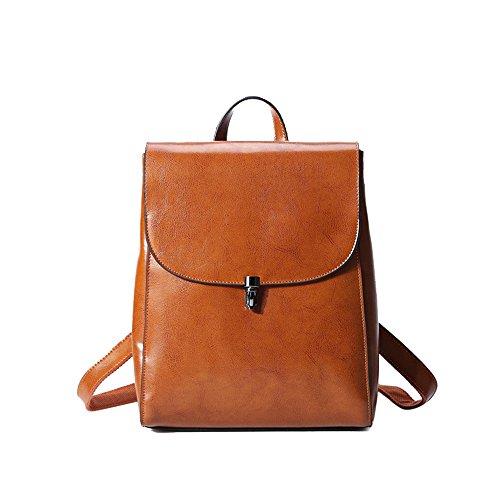 Anne , Damen Rucksackhandtasche schwarz schwarz gelblich