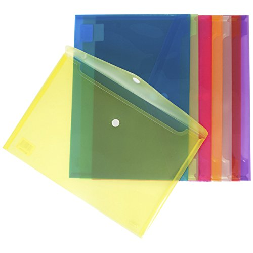 Foto de Grafoplás 04872360 - Carpetas sobre de plástico tamaño folio -12 unidades color amarillo