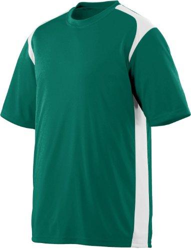 Augusta Herren T-Shirt Mehrfarbig - Dark Green/White